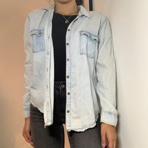 Garage Blue Denim Button-Down Shirt